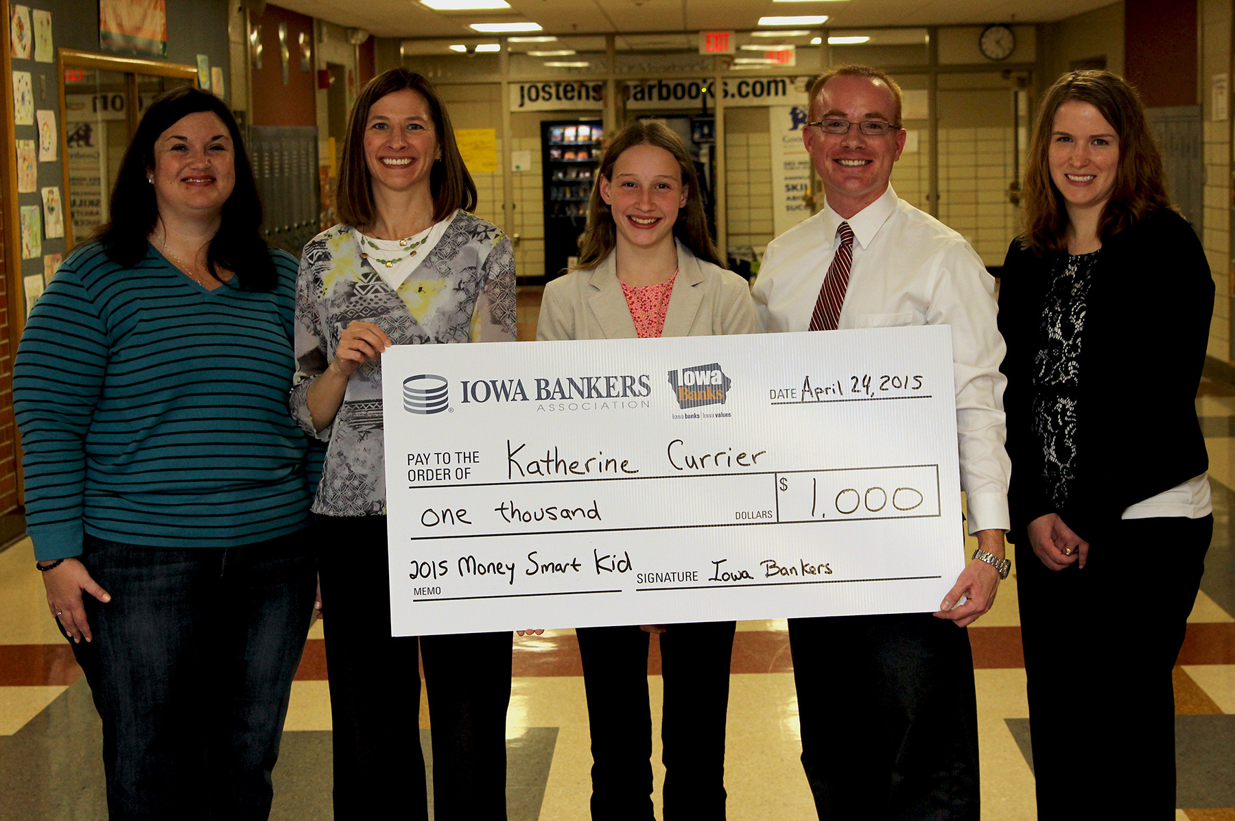 iowa eighth grader katherine currier d money smart kid  mswkidsm