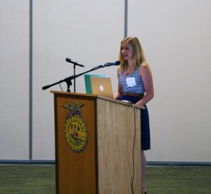 Morgan Fannon reads her winning 2016 Money Smart Kid essay.